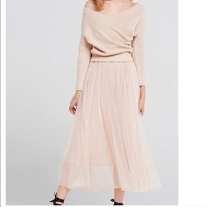 Storets two piece dress and sweater combo.